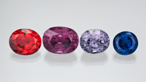 multiple colors of spinel gemstone