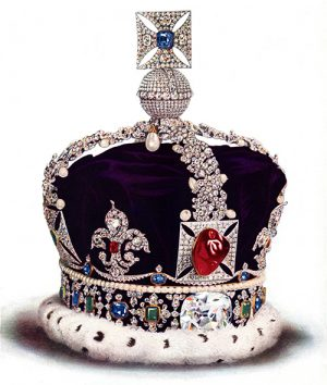 "The ""Black Prince's Ruby"", Located In the Center of the Crown, Is Actually Spinel!"