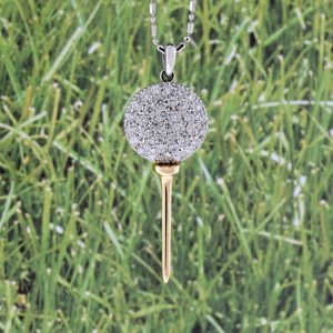 Diamond Golf Tee Necklace