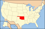 Map of US with Oklahoma highlighted