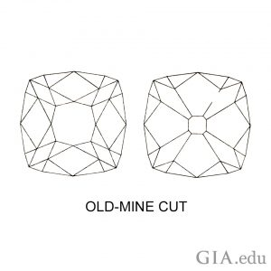 gia old mine cut diamond diagram