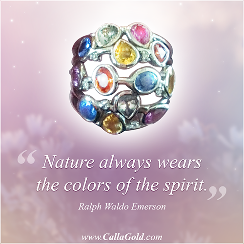 """Nature always wears the colors of the spirit."" Ralph Waldo Emerson Gems. Gems of Wisdom"