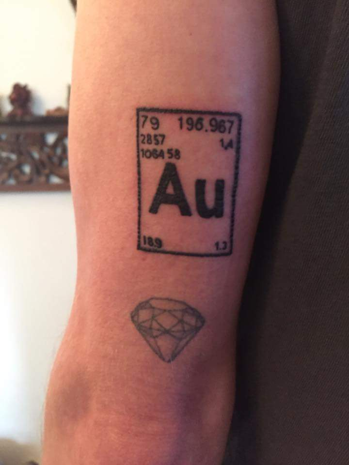 Periodic chart gold tattoo