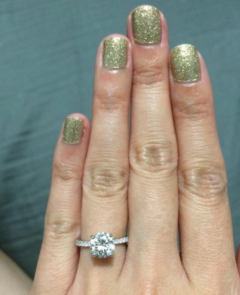 com a diamond mysparkly size on ct finger review round one engagement rings or carat
