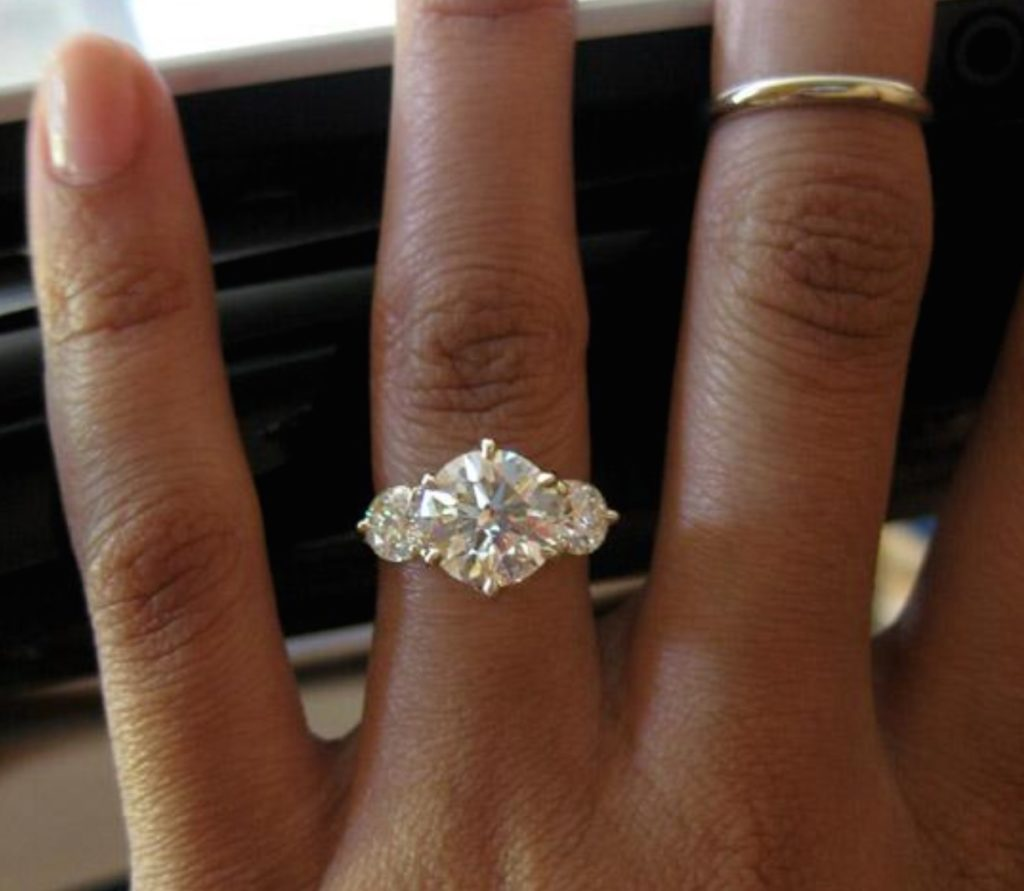 A One Carat Diamond On A Size 2 Or A Size 10 Finger