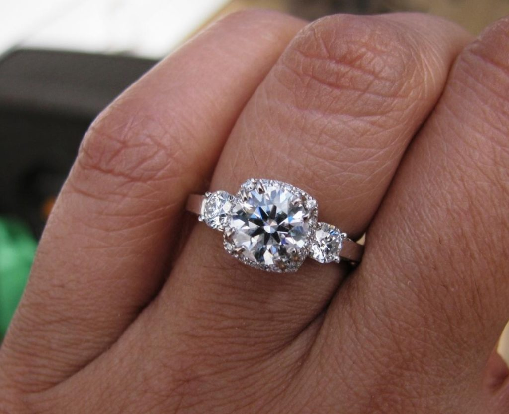 This Size 6 1 30ct Center Diamond Engagement Ring Has A Tiny Halo
