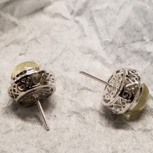 Earrings with the post in the middle