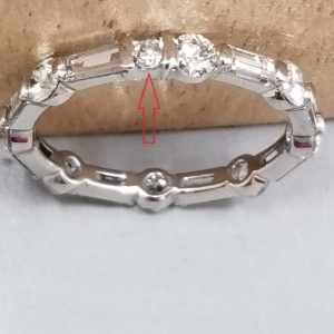 Eternity band with baguettes and rounds