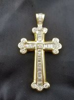 Baguette diamond cross