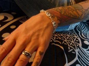 Black Rhodium Goes Great with Tats on White gold wedding band