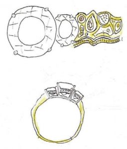sketch of ring design