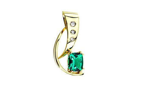 Emerald and diamond slide necklace for Omega