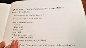 Wedding Ring Quiz page from book Design your dream wedding rings, from engagement to eternity